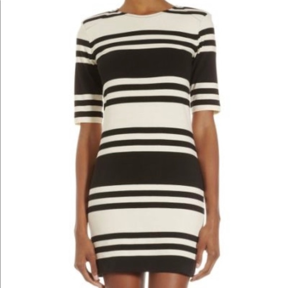 French Connection Dresses & Skirts - French Connection Striped Bodycon Dress